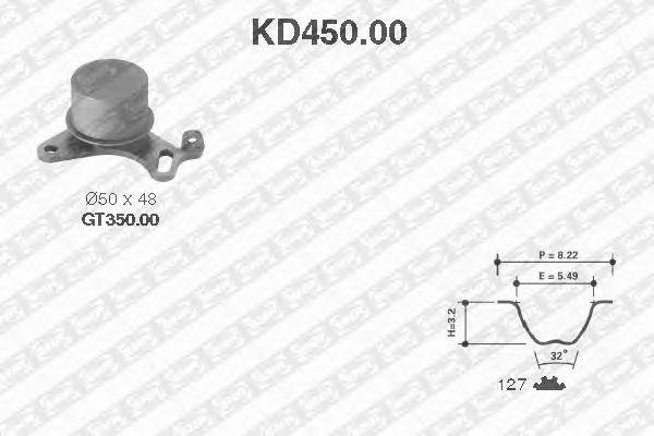 Комплект ремня ГРМ SNR KD450.00