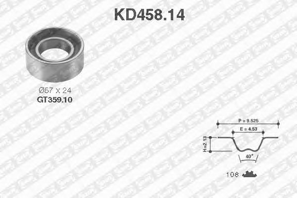Комплект ремня ГРМ SNR KD458.14