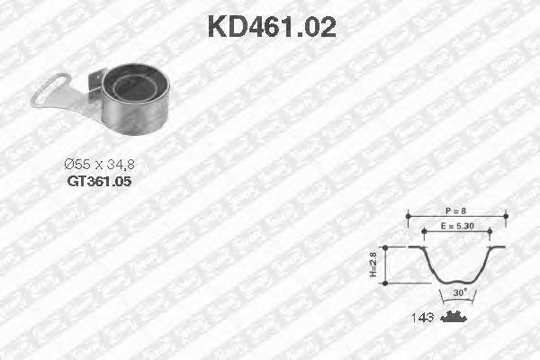 Комплект ремня ГРМ SNR KD461.02