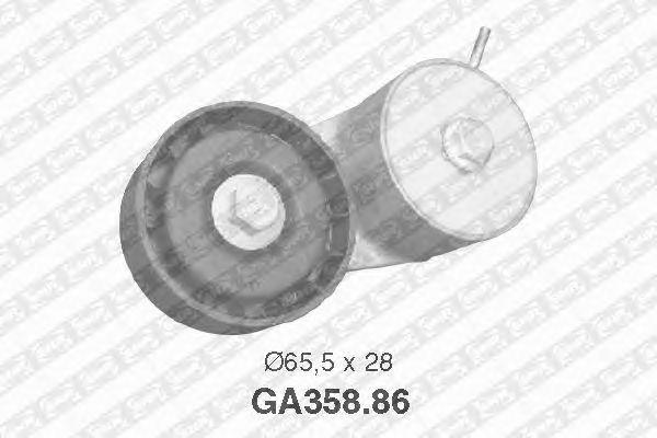 Натяжной ролик поликлинового ремня SNR GA358.86