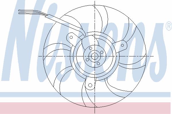 Вентилятор охлаждения NISSENS 85548