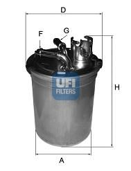 Топливный фильтр UFI 24.004.00