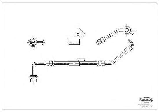 Тормозной шланг CORTECO 19032130