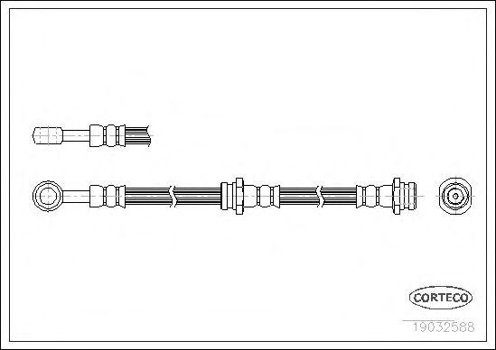 Тормозной шланг CORTECO 19032588