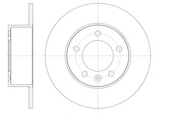 Тормозной диск REMSA 61412.00