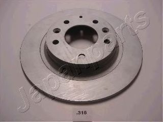 Тормозной диск JAPANPARTS DP-316