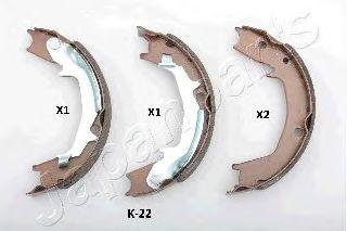 Тормозные колодки ручника JAPANPARTS GF-K22AF