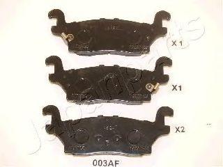Тормозные колодки JAPANPARTS PP-003AF