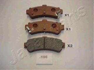 Тормозные колодки JAPANPARTS PP-196AF
