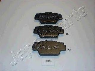 Тормозные колодки JAPANPARTS PP-499AF