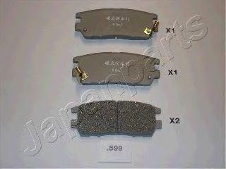 Тормозные колодки JAPANPARTS PP-599AF