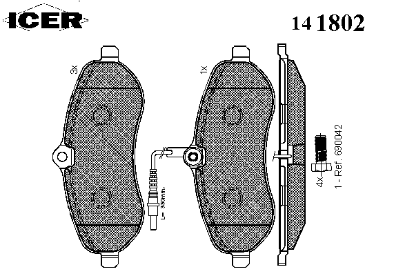 Тормозные колодки ICER 141802