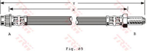 Тормозной шланг TRW PHB283