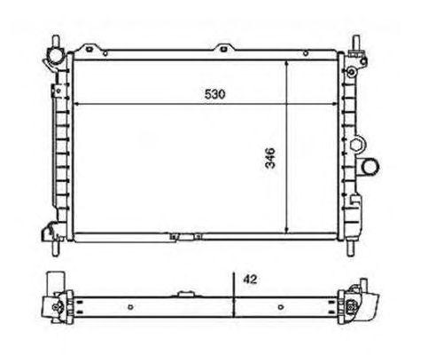 Радиатор, охлаждение двигателя NRF 50126