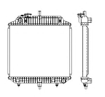 Радиатор, охлаждение двигателя NRF 504271