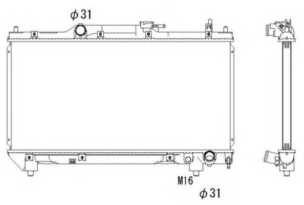 Радиатор, охлаждение двигателя NRF 53267