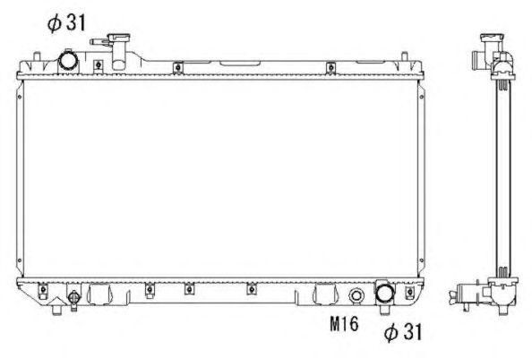 Радиатор, охлаждение двигателя NRF 53275