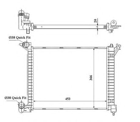 Радиатор, охлаждение двигателя NRF 53841