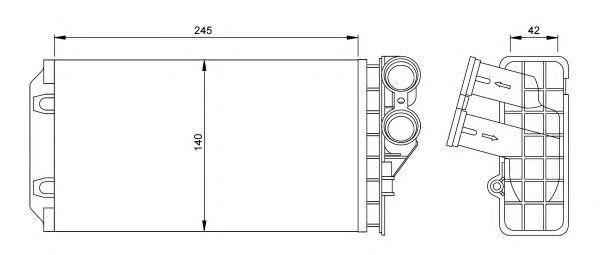 Радиатор отопителя NRF 54251