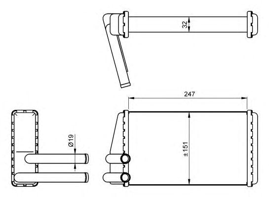 Радиатор отопителя NRF 54267