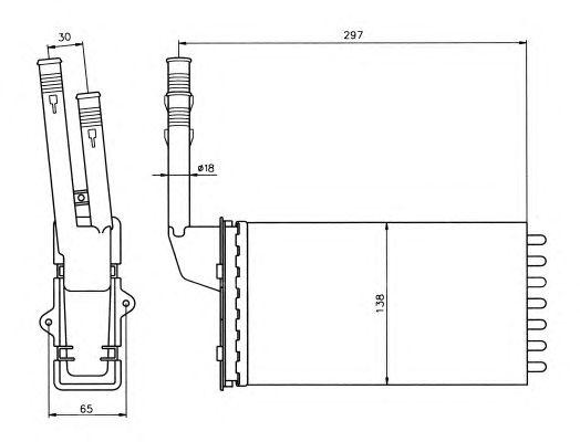 Радиатор отопителя NRF 58064