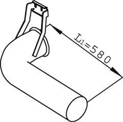 Труба выхлопного газа DINEX 68696