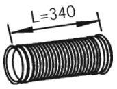 Гофра выпускной системы DINEX 48218