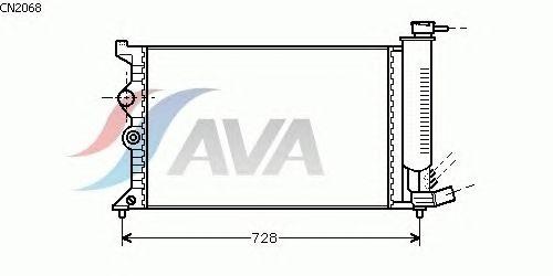 Радиатор, охлаждение двигателя AVA QUALITY COOLING CN2068