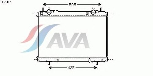 Радиатор, охлаждение двигателя AVA QUALITY COOLING FT2207