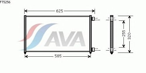 Радиатор кондиционера AVA QUALITY COOLING FT5256