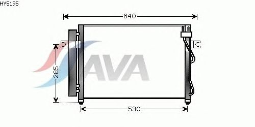 Радиатор кондиционера AVA QUALITY COOLING HY5195