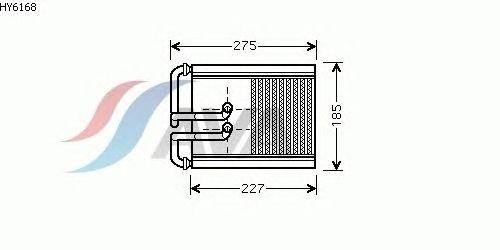 Радиатор отопителя AVA QUALITY COOLING HY6168