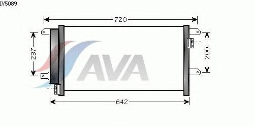 Радиатор кондиционера AVA QUALITY COOLING IV5089