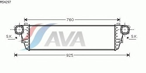 Интеркулер AVA QUALITY COOLING MS4297