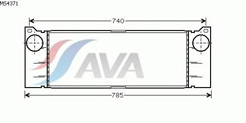 Интеркулер AVA QUALITY COOLING MS4371