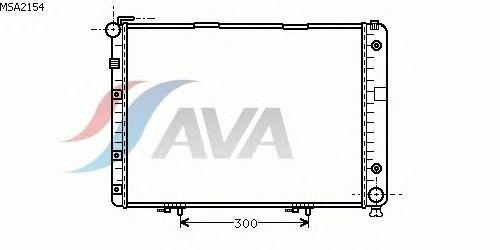 Радиатор, охлаждение двигателя AVA QUALITY COOLING MSA2154