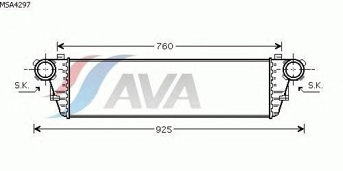Интеркулер AVA QUALITY COOLING MSA4297