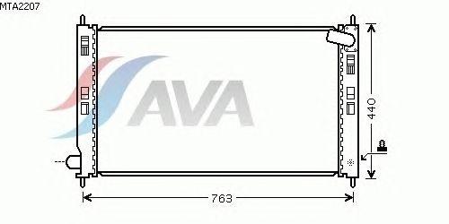 Радиатор, охлаждение двигателя AVA QUALITY COOLING MTA2207