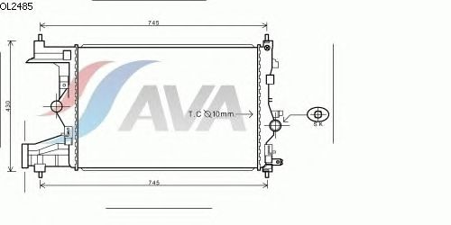 Радиатор, охлаждение двигателя AVA QUALITY COOLING OL2485