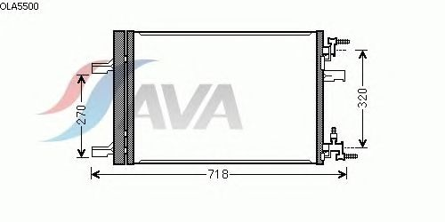Радиатор кондиционера AVA QUALITY COOLING OLA5500