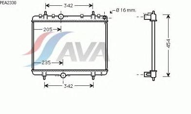 Радиатор, охлаждение двигателя AVA QUALITY COOLING PEA2330