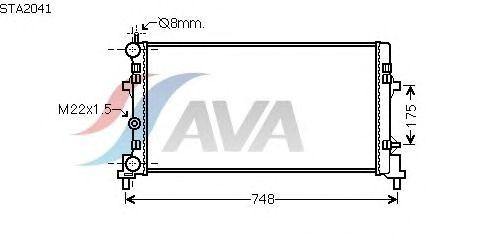Радиатор, охлаждение двигателя AVA QUALITY COOLING STA2041