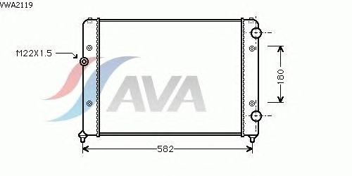 Радиатор, охлаждение двигателя AVA QUALITY COOLING VWA2119