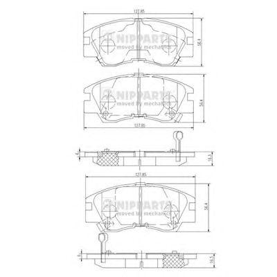 Тормозные колодки NIPPARTS J3605027
