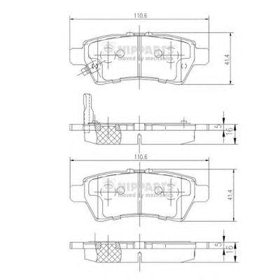 Тормозные колодки NIPPARTS J3611050