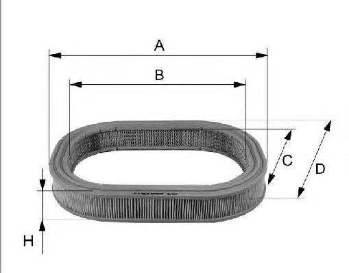 Воздушный фильтр FILTRON AE345/1