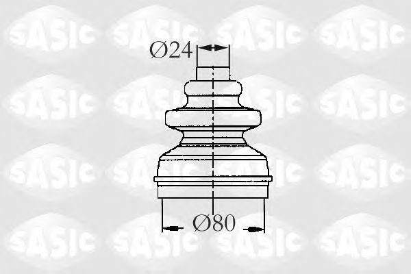 Комплект пыльника ШРУСа SASIC 2873793