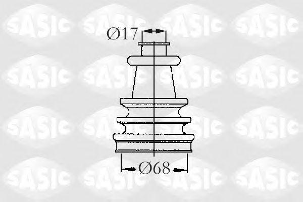 Комплект пыльника ШРУСа SASIC 2933403
