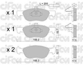 Тормозные колодки CIFAM 822-082-0