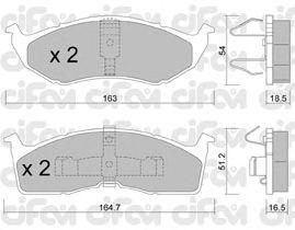 Тормозные колодки CIFAM 822-356-0